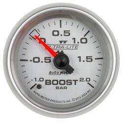 Auto Meter 4903-M2 Ultra-Lite II Boost/Vacuum Gauge, 2-1/16, -1-+2 BAR,