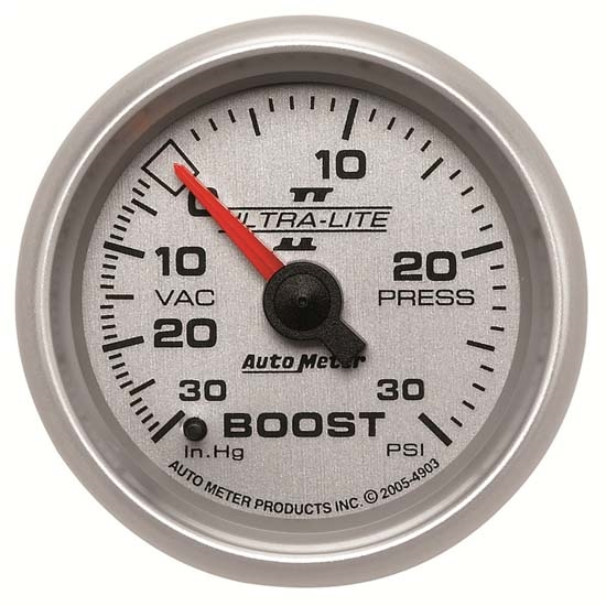 Auto Meter 4903 Ultra-Lite II Mechanical Boost/Vacuum Gauge