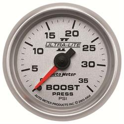 AutoMeter 4904 Ultra-Lite II Mechanical Boost Gauge,35 PSI,2-1/16