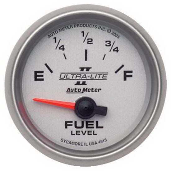 Auto Meter 4913 Ultra-Lite II Air-Core Fuel Level Gauge, 2-1/16 Inch