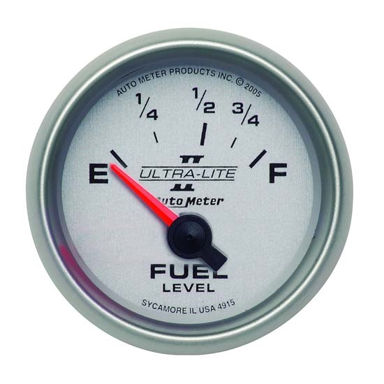 Auto Meter 4915 Ultra-Lite II Air-Core Fuel Level Gauge, 2-1/16 Inch