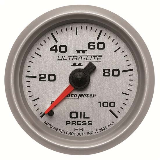 Auto Meter 4921 Ultra-Lite II Mechanical Oil Pressure Gauge