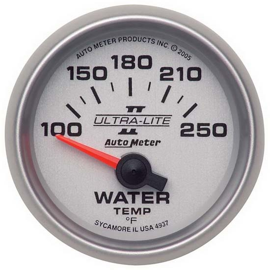 Auto Meter 4937 Ultra-Lite II Air-Core Water Temperature Gauge