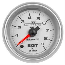 Auto Meter 4944-M Ultra-Lite II Boost/Pyro Gauge, 2-1/16, 0-900 Deg., Flat