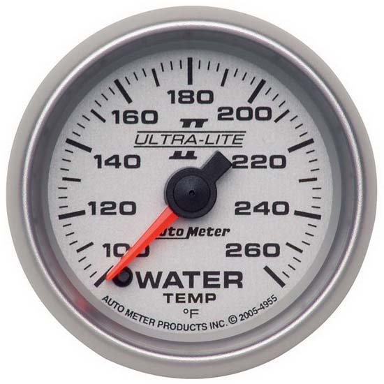 Auto Meter 4955 Ultra-Lite II Digital Stepper Motor Water Temp Gauge