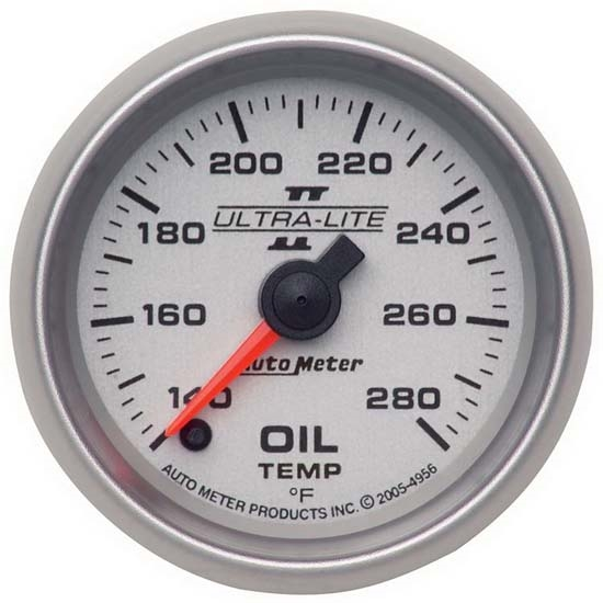 Auto Meter 4956 Ultra-Lite II Digital Stepper Motor Oil Temp Gauge