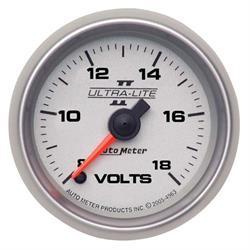 Auto Meter 4991 Ultra-Lite II Digital Stepper Motor Voltmeter Gauge