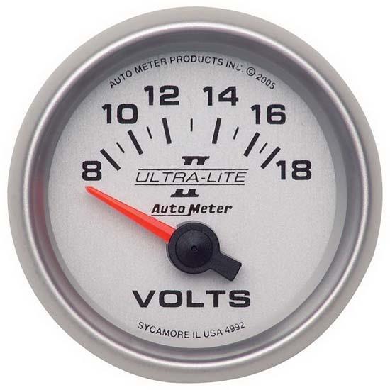 Autometer  Z-series Voltmeter Gauge 8-18 Volts 2645