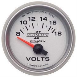 Auto Meter 4992 Ultra-Lite II Air-Core Voltmeter Gauge, 2-1/16 Inch