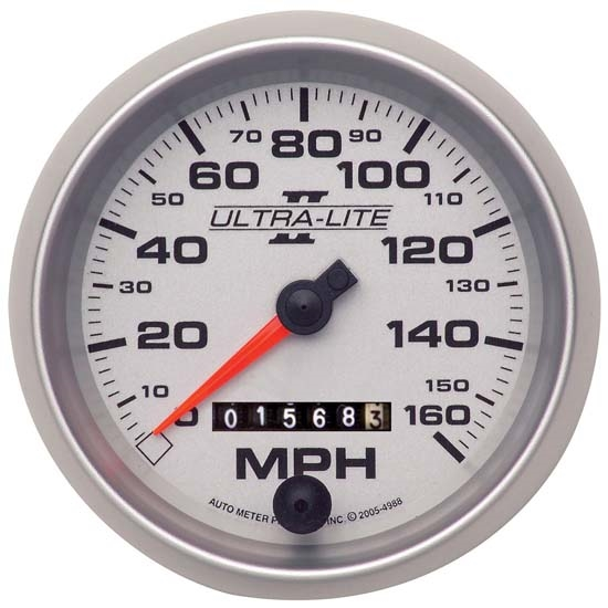 Auto Meter 4993 Ultra-Lite II Mechanical Speedometer, 160MPH, 3-3/8 In