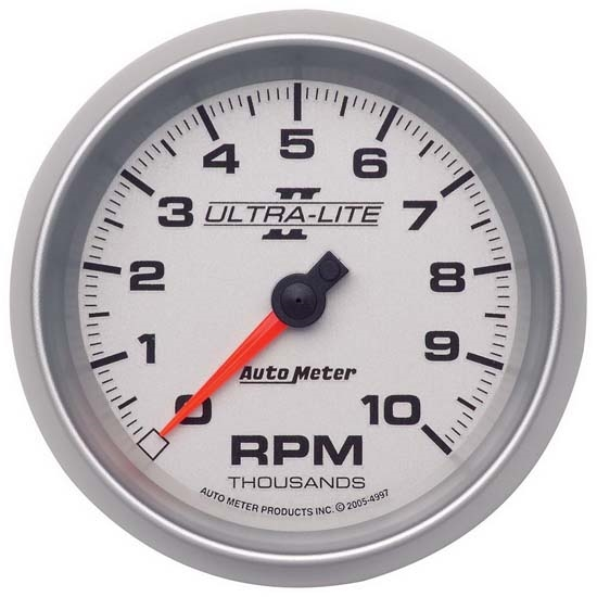 Auto Meter 4997 Ultra-Lite II Air-Core In-Dash Tach, 10k, 3-3/8 Inch