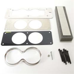 Auto Meter 50108 Carbon Fiber Dual Gauge Cage, 87-93 Mustang, 2-5/8 In