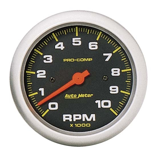 Auto Meter 5161 Pro-Comp Air-Core In-Dash Tachometer, 10k RPM, 3-3/8