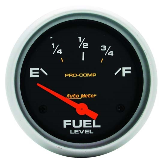 Auto Meter 5415 Pro-Comp Air-Core Fuel Level Gauge, 2-5/8 Inch