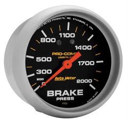 Auto Meter 5426 Pro-Comp Mechanical Brake Pressure Gauge, 2-5/8 Inch