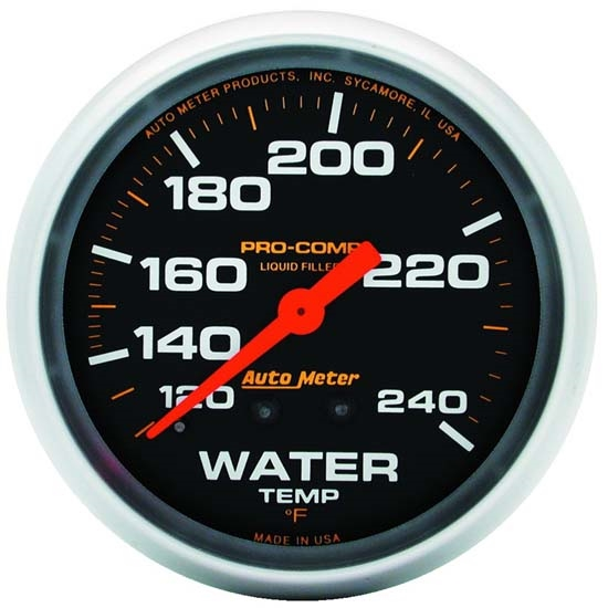Auto Meter 5432 Pro-Comp Mechanical Water Temperature Gauge