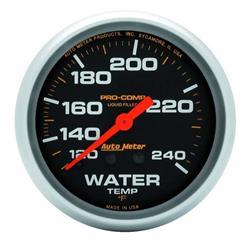 Auto Meter 5433 Pro-Comp Mechanical Water Temperature Gauge