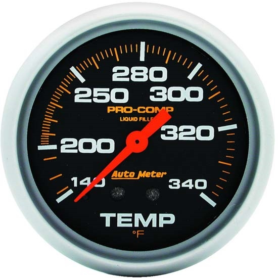Auto Meter 5435 Pro-Comp Mechanical Temperature Gauge, 2-5/8 Inch