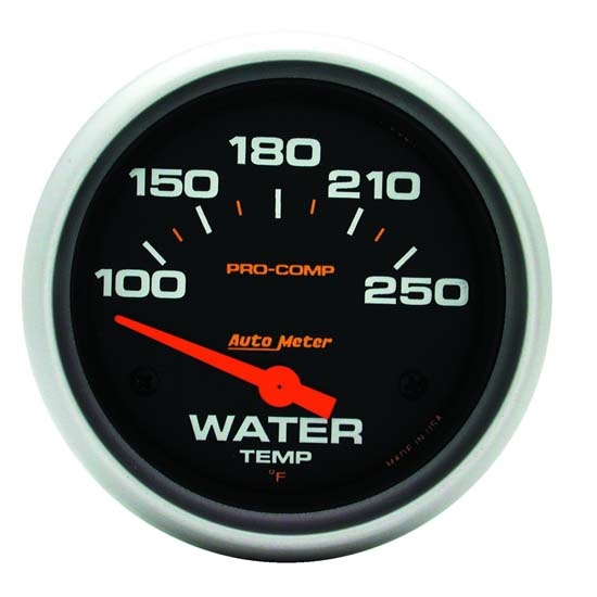 Auto Meter 5437 Pro-Comp Air-Core Water Temperature Gauge, 2-5/8 Inch
