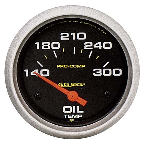 AutoMeter 5447 Pro-Comp Air-Core Oil Temperature Gauge,2-5/8 Inch