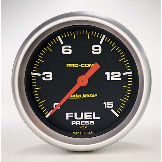 Auto Meter 5461 Pro-Comp Digital Stepper Motor Fuel Pressure Gauge