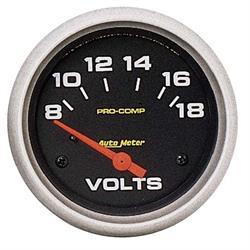 Auto Meter 5492 Pro-Comp Air-Core Voltmeter Gauge, 2-5/8 Inch