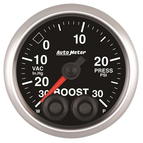 Auto Meter 5677 Elite Digital Stepper Motor Boost/Vacuum Gauge