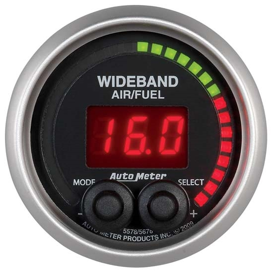 Auto Meter 5678 Elite Digital Wideband Air/Fuel Ratio (AFR) Gauge