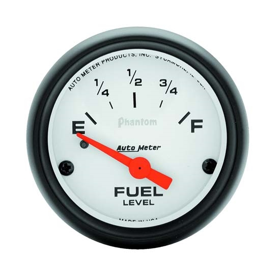 AutoMeter 5716 Phantom Air-Core Elec  Fuel Level Gauge,2-1/16 In