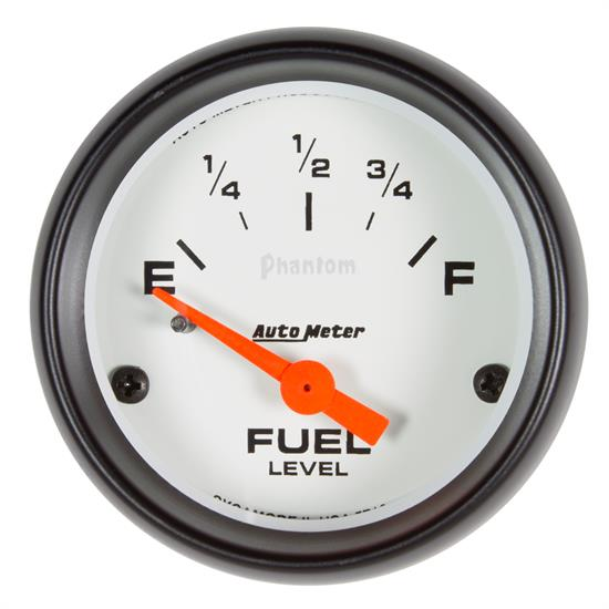Auto Meter 5719 Phantom Fuel Level Gauge, 2-1/16, 73/10 Ohm, Flat Lens