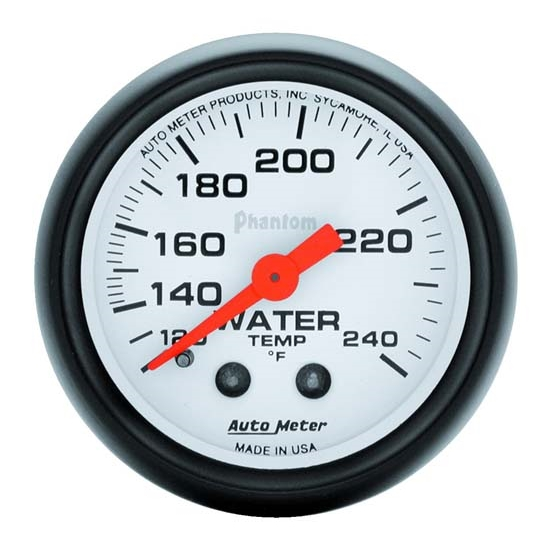 Auto Meter 5732 Phantom Mechanical Water Temperature Gauge, 2-1/16 In.