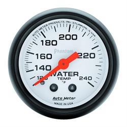Auto Meter 5732 Phantom Mechanical Water Temperature Gauge, 2-1/16 In.