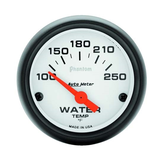 Auto Meter 5737 Phantom Air-Core Water Temperature Gauge, 2-1/16 Inch