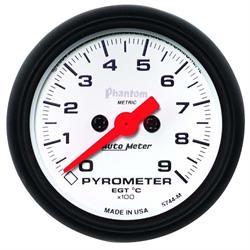 Auto Meter 5744-M Phantom Digital Stepper Motor Pyrometer Gauge
