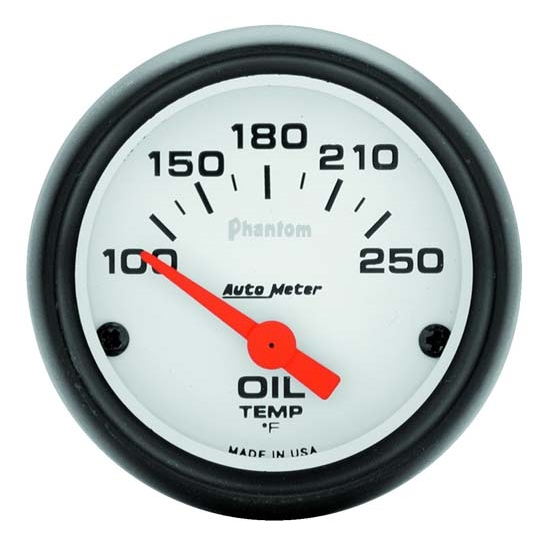 Auto Meter 5747 Phantom Air-Core Electric Oil Temp Gauge, 2-1/16 Inch