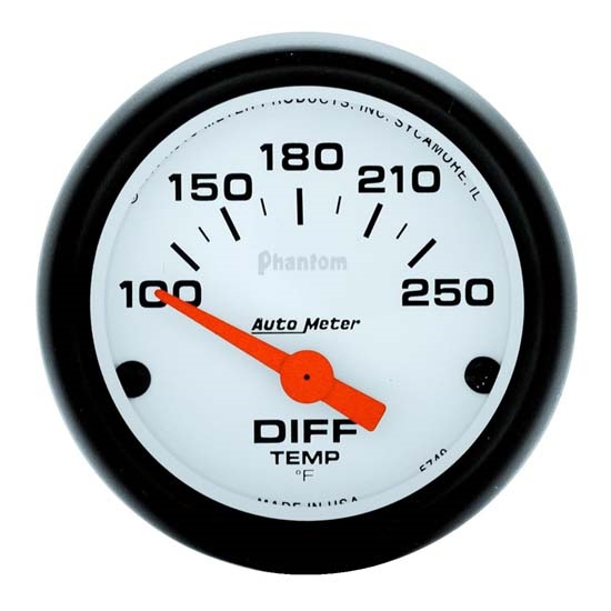 Auto Meter 5749 Phantom Air-Core Differential Temp Gauge, 2-1/16 Inch