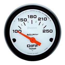 Auto Meter 5749 Phantom Air-Core Differential Temp Gauge, 2-1/16 Inch