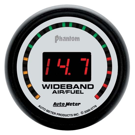 AutoMeter 5779 Phantom Digital Wideband Air/Fuel Ratio (AFR)Gauge