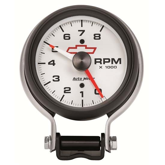 Auto Meter 5780-00406 GM White Air-Core Pedestal Tachometer Gauge