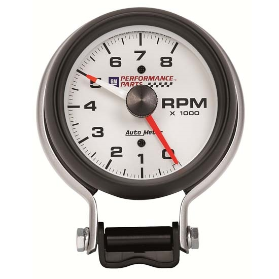 Auto Meter 5780-00407 GM White Air-Core Pedestal Tachometer Gauge
