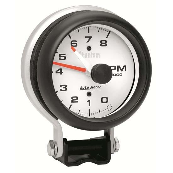 """Autometer Arctic White 3-3//8/"""" In-Dash Tachometer 0-8,000 RPM Gauge"""