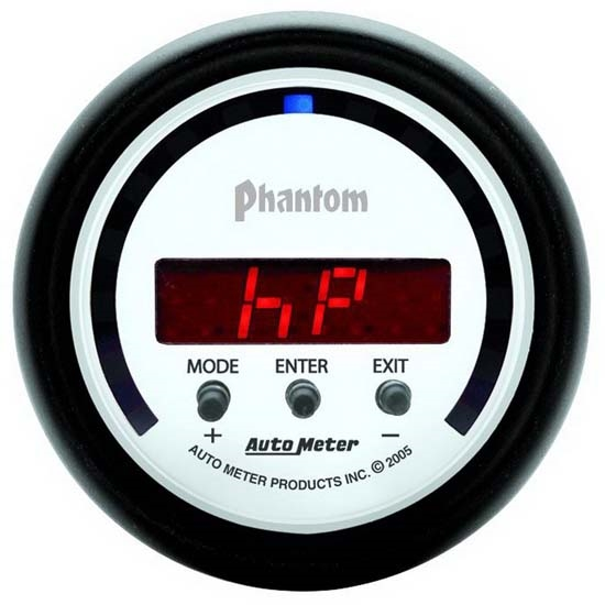 Auto Meter 5781 Phantom Digital D-PIC Performance Meter Gauge, 2-1/16