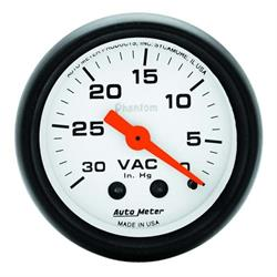 Auto Meter 5784 Phantom Mechanical Vacuum Gauge, 2-1/16 Inch