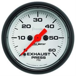 Auto Meter 5792 Phantom Digital Stepper Motor Exhaust Pressure Gauge
