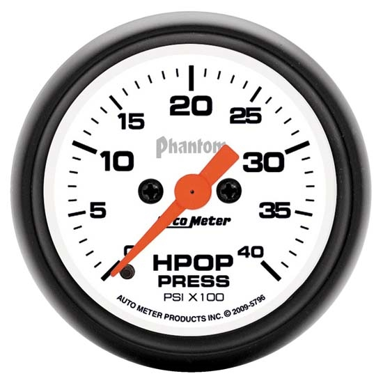 Auto Meter 5796 Phantom Digital Stepper Motor HPOP Pressure Gauge