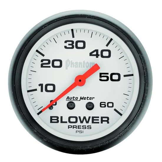 Auto Meter 5802 Phantom Mechanical Blower Pressure Gauge, 2-5/8 Inch