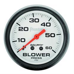 Auto Meter 5802 Phantom Mechanical Blower Pressure Gauge, 2-5/8 Inch