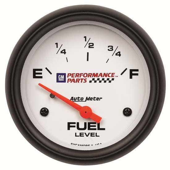 Auto Meter 5814-00407 GM White Air-Core Fuel Level Gauge, 2-5/8 Inch