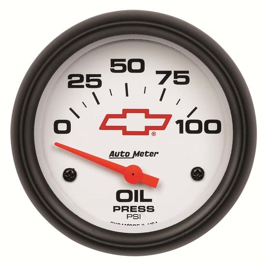 Auto Meter 5827-00406 GM White Air-Core Oil Pressure Gauge