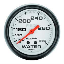 Auto Meter 5831 Phantom Mechanical Water Temperature Gauge, 2-5/8 Inch